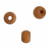 Wood Crowbeads 9X6.5mm Coffee Lacquered